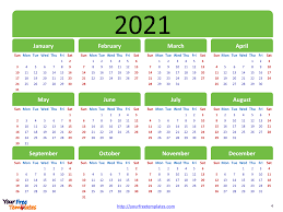 Free pdf calendars, yearly and monthly calendars with 2021 australia holidays. Printable Calendar 2021 Template Free Powerpoint Templates