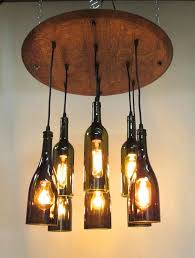 luxury wine bottle light fixture for livingroom barrel home decor battery operated without drilling diy