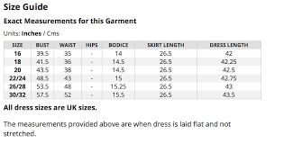 Uk Dress Plus Size Chart