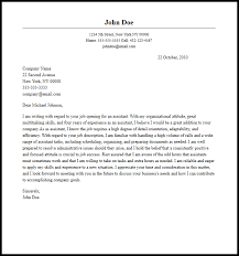 Johnson And Johnson Cover Letter Professional Assistant Cover Letter Sample Writing Guide Cover