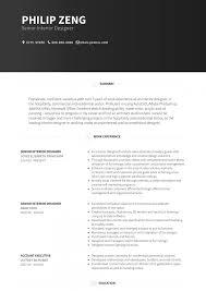 Interior Designer Resume Samples Templates Visualcv Format Free