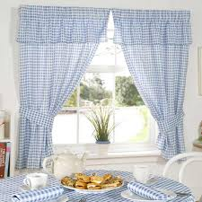 emma barclay molly gingham check kitchen pencil pleat curtains