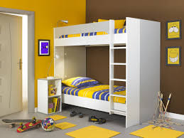 wooden bunk bed for kids bedroom and fantasy playground huz name simple with safety ladder yellow mat also brown wall