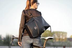 black leather laptop messenger bag for las lady harberton made in france