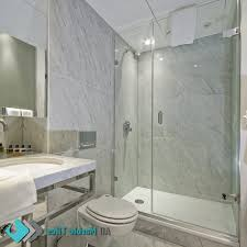 Modern Marble Bathroom Modern Marble Bathroom Brown Color Clear Glass Wash Bowls Built In