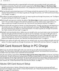 set up the gift card processing account in pc charge and edit the payment ini