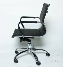 eames reproduction office chair. eames replica office chair ea 117 medium backrest faux leather black reproduction