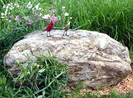This rock is set in a naturalized area surrounded by sweet peas and  grasses. Possibly the most interesting feature of the ...