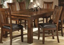 Oak Finish Casual Dining Table W Optional Chairs
