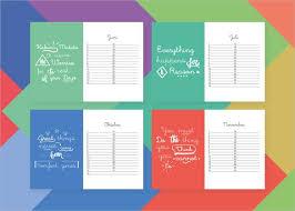 Birthday Calendar Design 21 Birthday Calendar Templates Free Sample ...