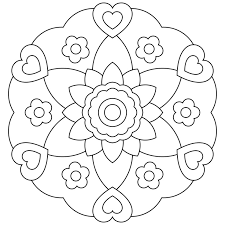 Small Picture Mandala Coloring Pages For Kids Coloring Pages Education
