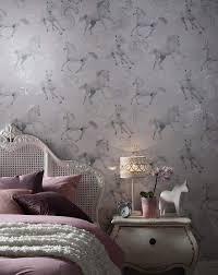 Lilac Bedroom Wallpaper Unicorn Wallpaper Camarillo Grey J D Williams