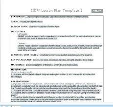 Siop Lesson Plan Template 1 Siop Lesson Plan Template 2 Sample Lesson Plan Template 1 Act Siop