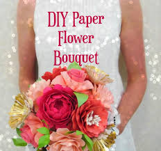 Paper Flower Bouquet Tutorial Diy Paper Flower Bouquet Templates Tutorial Diy Paper