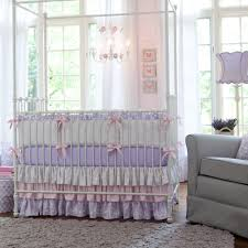 lilac and silver gray damask baby crib bedding