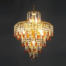 fountain amber crystal teardrops and clear crystal beads waterfall chandelier