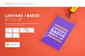 Lanyard Name Tag Badge Mockup ~ Product Mockups ~ Creative Market