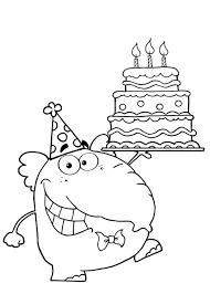 Kleurennu Verjaardagstaart 3 Jaar Kleurplaten Printen 3 Jaar