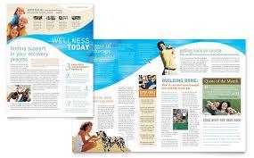 Wellness Newsletter Templates Physical Therapist Newsletter Template Design