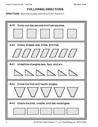 education world critical thinking following directions worksheet education world critical thinking following directions worksheet
