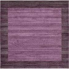 del mar violet 8 x 8 square rug