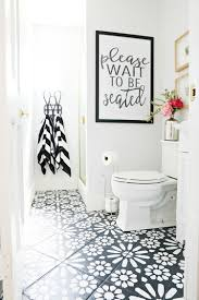 re tiling bathroom floor. DIY Painted Stencil Bathroom Floor Re Tiling I