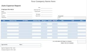 Blank Expense Report Form Exceptional And Blank Auto Expense Report Template And Form