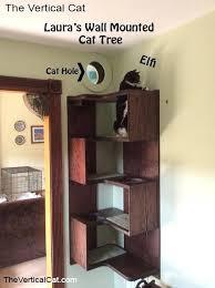 wall mounted cat tree hanging