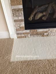 Tile Fireplace Makeover Fireplace Makeover Using Airstone Simplykierstecom