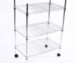 casters wire shelving units top details about heavy duty 3 tier wire shelving rack cart