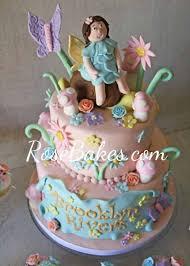 vintage fairy garden cake