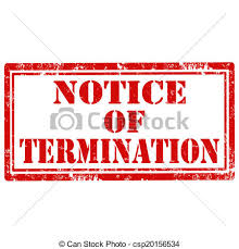 Image result for pics of a termination notice