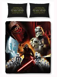 star wars episode vii awaken double panel duvet cover and pillowcase set