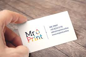 Name Card Adorable Singapore No44 Express Name Card Printing Company Mr Print Online