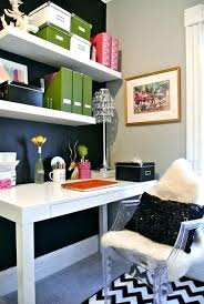 wall shelves office. Wall Shelves Above Desk Home Office Workspace Black Walls White Spring Cleaning .