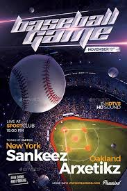 Free Baseball Flyer Template Baseball Game Match Flyer Template Flyer For Club And