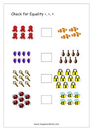 Kindergarten Worksheet For Kindergarten More Or Less: Greater Than ...