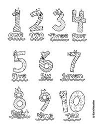 21 easy to learn number coloring pages for kids: Number Coloring Pages For Preschool Numbers 1 10 By Tim S Printables