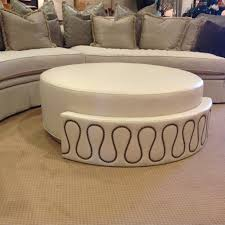 Coffee Table Turned Ottoman Round Into Diy Tufted Ikea Lack Turn Oval
