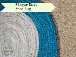 How To Knit A Rug Finger Knit Area Rug