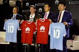 huawei jersey. chinese telecoms firm huawei signs messi to help drive global expansion | the drum jersey