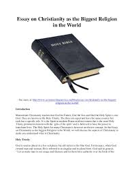 essay on christianity as the biggest religion in the world