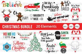 Create your own personal monogram that looks custom made you can either download in svg format or in png format and upload the png image to cricut design space. Christmas Monogram Bundle Graphic By Cutfilesgallery Creative Fabrica