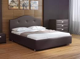 <b>Кровать</b> Como 7 (Экокожа Коричневый со стразами) 160x200 ...