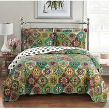 Quilts + Coverlets - Where to Buy Quilts + Coverlets at Filene's ... & Egyptian Bedding Bonnie Oversized Luxurious Microfiber Reversible Quilt  Coverlet Bedspread Set with Matching Shams Adamdwight.com