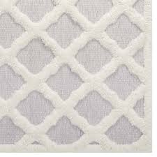 regale abstract moroccan trellis 5x8 area rug ivory and light gray