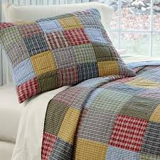 Country Bedding / Serenity Patchwork Quilt and Shams -- Orvis & Our chambray patchwork quilt will keep you comfortable on cool nights. Adamdwight.com