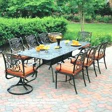 7 piece patio dining set. 7 Piece Patio Furniture Sets Dining Set With Swivel Chairs Unique Best