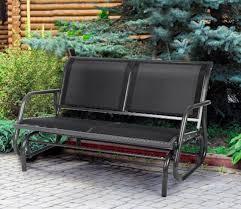 2 person garden rocking chair metal