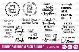 All contents are released under creative commons cc0. Funny Bathroom Sign Bundle Graphic By Cutfilesgallery Creative Fabrica